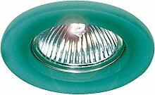 gumarcris 870Mat–Einbauspot aus Glas rund Cristal Verde