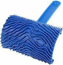 Gummi Holzmaserung Muster Wandmalerei Dekoration DIY Werkzeug Blau