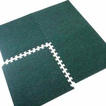 Gummibodenmatte grün Fliesen | 8| 32SQ FT |
