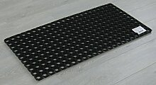 Gummimatte Riyad 50x100 cm Schwarz! Ringgummimatte Ringmatte Schmutzfangmatte