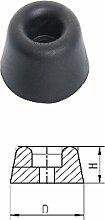 Gummipuffer Türpuffer Türstopper schwarz top Qualität 25 mm x 10 mm x 4,5 mm