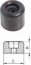 Gummipuffer Türpuffer Türstopper schwarz top Qualität 30 mm x 17 mm x 6 mm