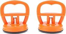 Gummisauger, 2Pcs orange Tablette starker Saugnapf Telefon Reparatur Schirm Glas Aufzug Vakuum starke Saugnapf Werkzeuge Starke Sucker