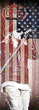 Guns N' Roses - USA - Tür Posterflagge Fahne - 100% Polyester - Größe 53x150 cm
