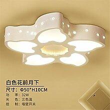 Gunxifacai Die Schlafzimmer sind hell und warm romantischen Kreative Wohnzimmer Helle und Moderne minimalistische Deckenleuchte rundes Bett für Kinder, 50 * 10 cm Lampen LED