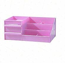 GUO YUN PP Material Aufbewahrungsbox Regal Regal Schlafzimmer Wohnzimmer Büro Studentenwohnheim Schminktisch Desktop Schubladen-Stil Lila