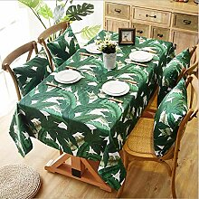 GUOAI Tischdecke Bananenbaum Palmblatt Druck