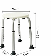 GUOCAIRONG® Duschhocker Ergonomischer Duschhocker mit verstellbarer Höhe Bad Hocker Dusche Sitzstuhl Rutschfester , white