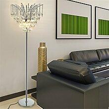GUOCAIRONG® Kristall Stehlampe Einfach Modern Wohnzimmer Schlafzimmer Studie Stehlampe