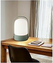 GUOCAIRONG® LED Tischlampe Glas Dimmen Schreibtischlampe Modern Einfach Schreibtisch Lesen Büro Nachttisch Studie Tischlampe,green