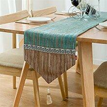 GUOCAIRONG® Moderne Tischläufer Tuch Europäische Art Esstisch Couchtisch Tischläufer TV Schrank Tassel Tischdecke , 30*120cm