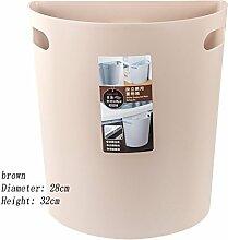 GUOCAIRONG Mülleimer Die Küche Haushalt Schranktüren Hängende Vertikale Halbkreis Kunststoff Wand-Mülleimer,Brown