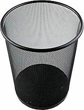 GUOCAIRONG Mülleimer große Haushalt Rost Eisen netto Müll WC Stacheldraht Müll Gewerberaum Papierkorb schwarz rund Müll