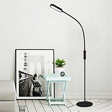 GUOCAIRONG® Stehlampe Wohnzimmer Schlafzimmer Studie Einfach Modern Berühren Fernbedienung LED Schüler Vertikal Tischlampe Klavierlampe,black