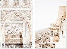 GUOCHEN Leinwandbilder, Böhmen Marokkanisch Beige