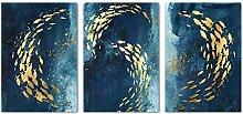 GUOCHEN Leinwandmalerei, Goldener Fisch Abstrakte