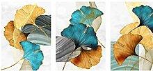 GUOCHEN Leinwandmalerei, Goldenes Pflanzenblatt
