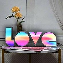 GUOCHENG LED-Leuchte mit Liebesbuchstaben,