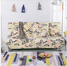 GUOCU Sofabezug ohne armlehne - Sofahusse Stretch