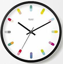 GuoEY Deko Wanduhr für mehrfarbige roommetal