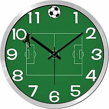 GuoEY Fußball Wanduhr personalisierte Dekoration
