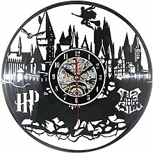 GuoEY Harry Potter Wanduhr modernes Design Vinyl