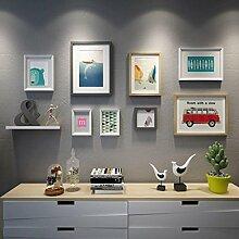 GuoEY Kombination Foto Wand, 8 Rahmen Set -
