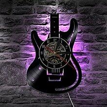 GuoEY LED-Wanduhr modernes Design Musik Uhren mit
