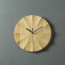 GuoEY Wanduhr aus Holz für die Dekoration von