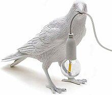 GUOGEGE Vögel Tischlampen Niedlich Kräh Bird
