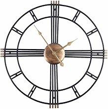 GUOGUO 50cm Wanduhr Ohne Ticken Wanduhr Metall
