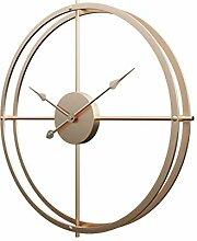 GUOGUO 60cm Wanduhr Groß Metall Wanduhr ohne