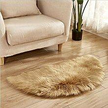 GUOjianhui Fußmatte aus Kunstwolle, halbrund,