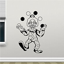 Guokee Clown Zirkus Wandtattoo Zirkus Clown Vinyl