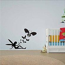 Guokee Fee Schmetterlinge Wandkunst Aufkleber für