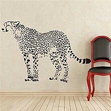 Guokee Leopard Natur Tiere Wandtattoo Aufkleber