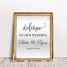 Guokee Personalisierte Namen Hochzeit