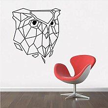 Guokee Schwarz Geometrische Eule Wanddekor