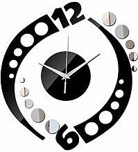 Guokee Wanduhr Acryl Spiegel Kunst Uhren
