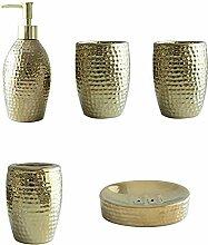 GUOOK Badaccessoires-Sets Keramik Toilettenartikel