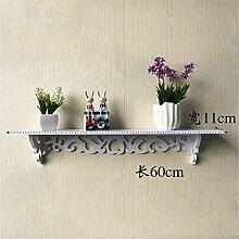 GUOPI Die einfachen, modernen europäischen Schlafzimmer Wohnzimmer Innovation hängt die Wand Blume Regal Wand Wände Wand obere Rack, C