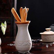 GuoQiang Zhou Retro Grobe Keramik Tee-Zubehör