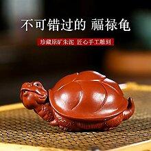 GuoQiang Zhou Skulptur aus lila Ton Lila Schlamm