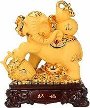 Guoqunshop Statue/Wealth Lucky Figur Feng Shui