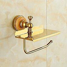 GUOSHIJITUAN Wc-fach gold,Toilette Punch-frei