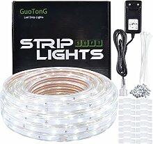 GuoTonG 12V LED-Streifen, Tageslichtweiß,