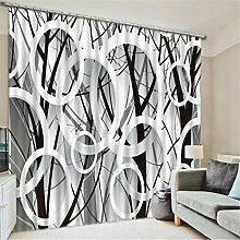 GUOW 3D Fenster Gardinen geschmückte European
