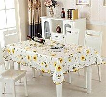 GUOW Bunte Farbe verdickte Plastik Tischdecke - wasserdichte transparente Anti-Öl-Tischdecken , B