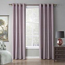 GUOW Fenster Gardinen Licht rosa einfach weich Geräuschdämmung Schutz Privatsphäre Umwelt Gesundheit Schlafzimmer, 140x240cm