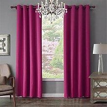 GUOW Fenster Gardinen rosa einfach Soft Noise Isolierung Schutz Schutz Privatsphäre Umwelt Gesundheit Schlafzimmer, 52x95inch